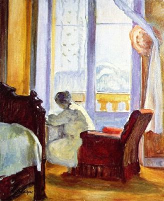 Henri-Lebasque-xx-Woman-Writing-xx-Private-collection